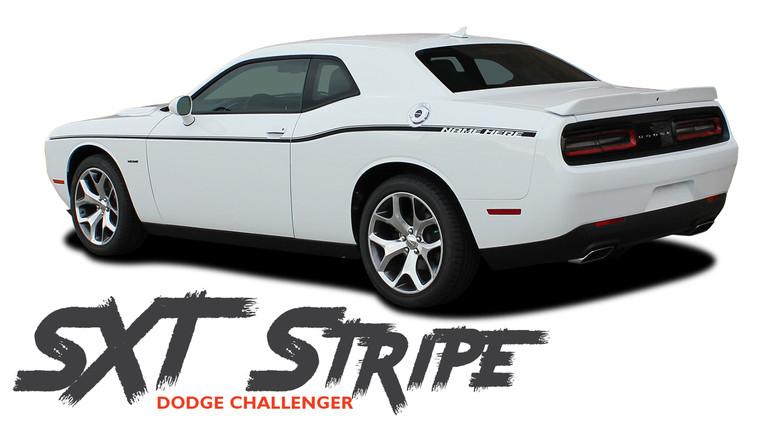 Dodge Challenger SXT SIDE STRIPE Factory OEM Side Door Body Vinyl Graphic Stripes 2011 2012 2013 2014 2015 2016 2017 2018 2019 2020