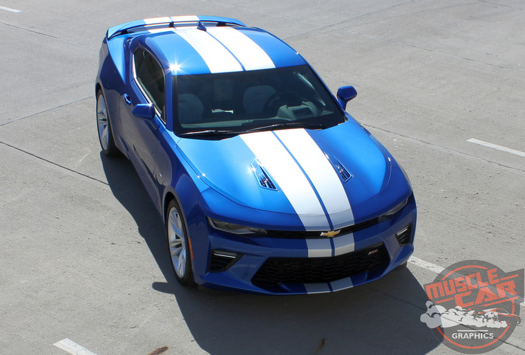 Front of 2017 Chevrolet Camaro Rally Stripes TURBO RALLY 2016-2018