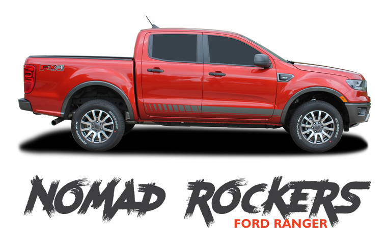 Ford Ranger Rocker Panel Door Stripes NOMAD ROCKER Body Vinyl Graphics Decal Kit 2019 2020 2021