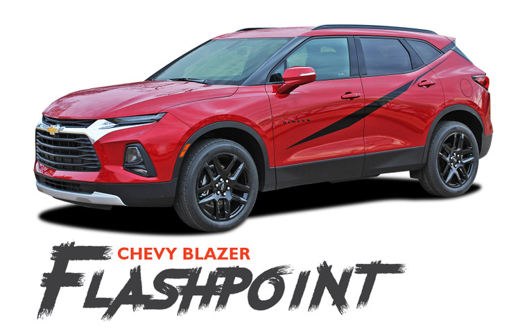 Chevy Blazer FLASHPOINT Side Door Body Vinyl Graphics Decals Stripes Kit 2019 2020