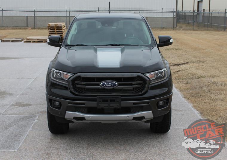 Hood of 2019 Ford Ranger Hood Stripes VIM HOOD KIT 2019-2020