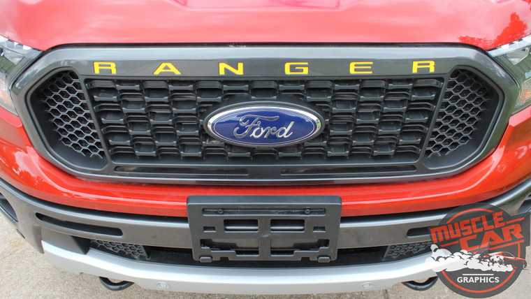 2019 Ford Ranger Grill Decals RANGER GRILL LETTERS 2019-2020