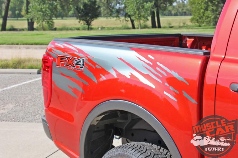 Close up of 2020 Ford Ranger Bed Side Stripes GUARDIAN 2019-2020