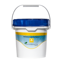 Solmetex Lead Apron Bucket - 2.5 Gallon. Lead waste and lead foil are collected