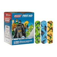 """Bandages Adhesive Justice League 3/4""""x3"""" 100/bx (Dukal)"""