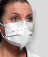 Earloop Masks with Splash Shield Fog Free Blue 25/bx (Crosstex)