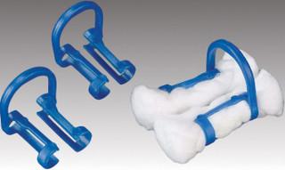 Cotton Roll Holders Blue 100pk (Plasdent)