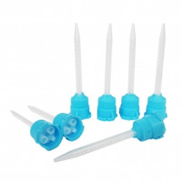 Temporary Crown & Bridge Mixing Tips, fits 1:1 Ratio, Blue and White, Package of 50.