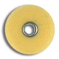 "Sof-Lex XT, Extra Thin, Discs, Superfine 1/2"", Pop-On, Polyester Film, Yellow, Package of 85."