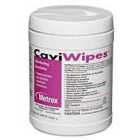 """CaviWipes Large, 6"""" x 6.75"""", Disinfecting Disposable Towelettes, 160 wipes (Metrex)"""