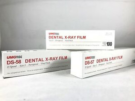 UMG X-Ray Film, DS-57, Size #2, Adult Double Film Packet, D-Speed, Box of 130.