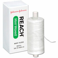 Reach Waxed Mint Dental Floss, 200 Yards, Box of 1 (J&J)