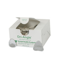 Dri-Angles Silver Coated, Small, Cotton Roll Substitute, Box of 400.