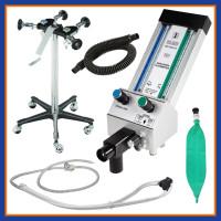 Belmed Portable Dental Nitrous Oxide Unit Complete, 4 Tank Connection, Mobile Stand, Scavenger & Flowmeter.
