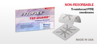 Cytoflex TI-Enforced TEF-Guard 32mm x 40mm, Package of 1. *Compare to Cytoplast Ti-Reinforced*