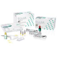Equia Shade B2 Intro Kit, Box of 48 Capsules, 1 Equia Coat bottle (4 ml), 1 GC Cavity Conditioner bottle (5.7 ml). Self-Adhesive Posterior Restorative.