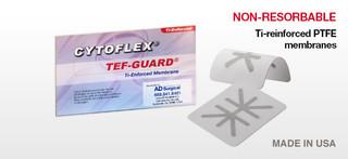 Cytoflex Ti-Enforced Tef-Guard CTT-011, 27mm X 29mm 1pk (Unicare) *Compare to Cytoplast Ti-Reinforced*