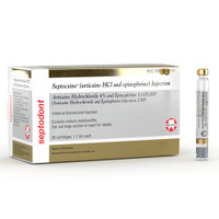 Septocaine Cartridges 4% w/Epi 1:100,000 (Gold) 50pk
