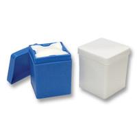 White 2x2 Sponge Dispenser, Autoclavable, white.