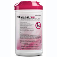 Sani-Cloth Plus Surface Disinfectant Cleaner Premoistened Wipe 65 Count Canister