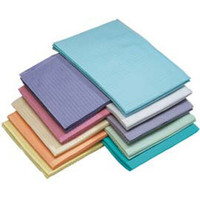 """Patient Bibs Pink, 13"""" x 18"""" 2-Ply Paper/1-Ply Poly, Box of 500."""