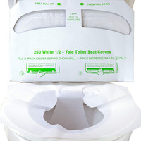 Toilet Seat Cover Disposable Half Fold 250pk