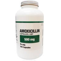 Amoxicillin 500 mg, Bottle of 500 Capsules. FREE Shipping.