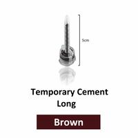 DX-Mixer Mixing Tips Temporary Cement Long Brown (50mm) 1:1 50pk (Dentazon)