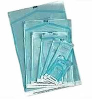 """Self-Sealing Sterilization Pouches - 2.75"""" x 10"""", Paper/Blue-Green Film with Color Changing Indicator, Box of 200. Free Shipping."""