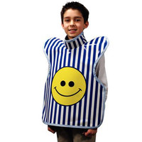 "Palmero Child ProtectAll Apron (20"" x 20"") Silk Screen Happy Face Printed."