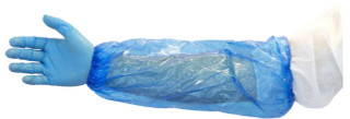 "Nivo Polyethylene Disposable Arm Sleeve cover 18"" Blue 1000pk"