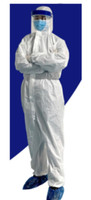 Coverall Isolation Clothes, Personal Protection, White Large 25pk