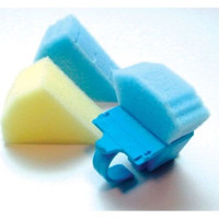 Blue Disposable Endo Foam Inserts, Triangle Shaped, Fits most endo rings, Package of 48 inserts.