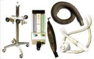 Belmed Portable Dental Nitrous Oxide Unit Complete, 4 Tank Connection, Mobile Stand, Scavenger & Flowmeter. *Free Shipping*
