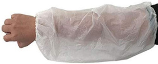 "Nivo Polyethylene Disposable Arm Sleeve cover 18"" White 100pk"