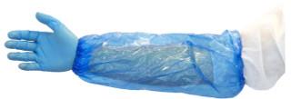 "Nivo Polyethylene Disposable Arm Sleeve cover 18"" Blue 100pk"