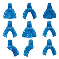 Disposable Impression Trays #4 Medium Lower Perforated Full-Arch Plastic 12pk