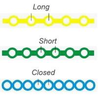 Nivo Power Chain Elastic Latex Free Long Cyan(3) 15 ft/Roll