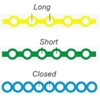 Nivo Power Chain Elastic Latex Free Short Baby Blue(2) 15 ft/Roll
