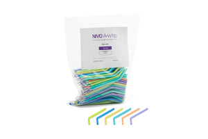 NIVO A+W Tips, Multi-color Plastic, Package of 250. *Compares to Crystal Tips.