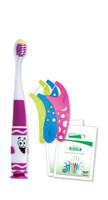 Kids Crayola Pip-Squeaks Patient Pack Includes: 144 GUM® Crayola® Pip-Squeaks™ Kids Toothbrushes, 144 Crayola™ Flosser 3-Packs, 144 Clear Patient Bags/bx (40 bx/plt)