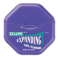 GUM Expanding Dental Floss 33yds, 6pk Lightly Waxed (Butler)