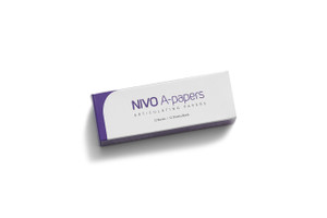 NIVO A-Papers, Extra Thin Blue, Articulating Paper, 38 Microns, 12 Books x 12 Sheets.
