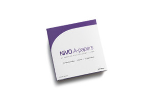 NIVO A-Papers, Horsehoe, Blue/Red,, Articulating Paper, 80 Microns, 6 Books x 12 Sheets.