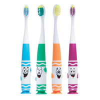 Crayola™ Pip-Squeaks™ Toothbrush, Suction Cup, Ultra Soft, Tapered Head, 1 dz/bx
