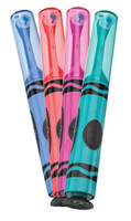 Crayola™ Power Toothbrush with Stickers, Includes: 75 Stickers to Personalize, Cordless,  Battery Operated, Includes 2 AA Batteries. Available in 4 colors: Blue, Pink, Red & Teal, 1 dz/bx