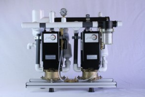 Wet-Ring Vacuum Pump Twin 4HP with Recycler & Separator
