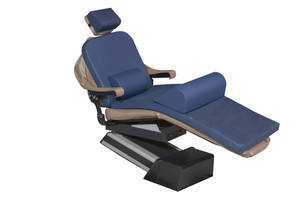 """MediPosture Dental Chair Overlay System w/4"""" Classic Memory Headrest, Navy"""