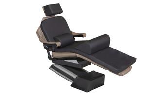 "MediPosture Dental Chair Overlay System w/6"" Classic Geriatric Memory Headrest, Black"