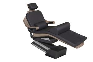 "MEDIPOSTURE Dental Chair Overlay System w/4"" ICORE MEMORY HEADREST Black"